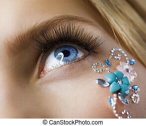 Makeup. Creative Eye Make-up closeup