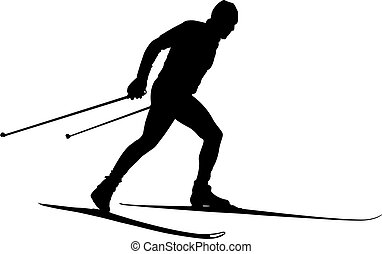 male athlete cross country skier