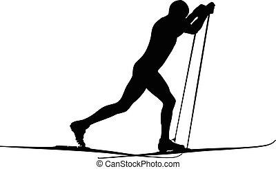 male athlete skie
