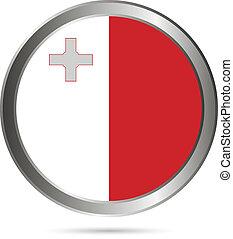 Malta flag button.