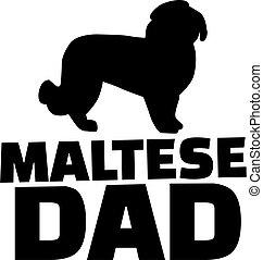 Maltese dog dad