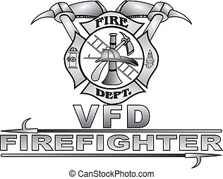 Grey gradient great Fire Dept maltese cross, easy to change to your department great vector design easy to use