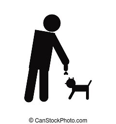 Man and dog icon