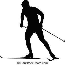 man athlete skier