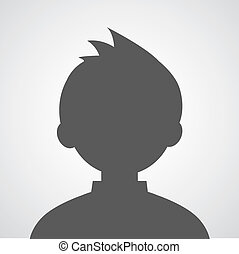 man avatar profile picture on gray background