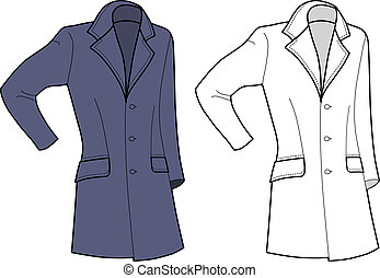 Man Coat (front view) isolated on white background