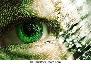 eye and electronic circuit