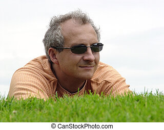 Man on the grass