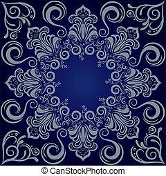 Mandala blue background