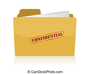 manila file folder stamped with confidential
