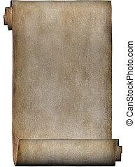 Manuscript, roll of parchment paper texture background