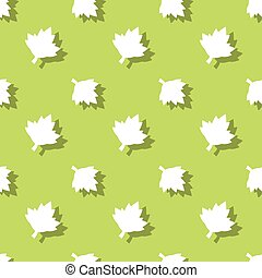 Maple Leaf Floral Seamless Pattern Background