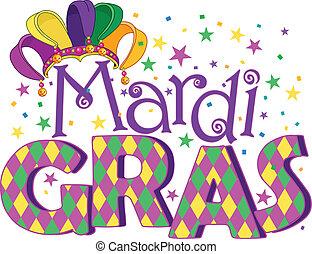Mardi Gras type treatment with jester hat