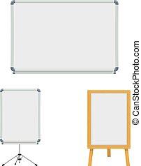 marker board set vector illustration isolated on white background