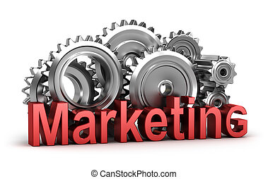 Marketing in the movement. Isolated concept
