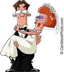 Married to a white background, vector illustration