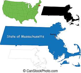 Massachusetts map
