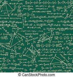 Maths seamless pattern. EPS 8