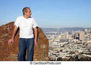 Mature man in San Francisco