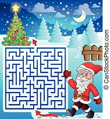 Maze 3 with walking Santa Claus