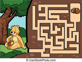 Maze game : Bear and honey