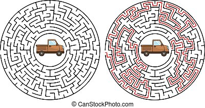 Maze game or activity page for kids Help the little hungry caterpillar to get to the yummy green breakfast.