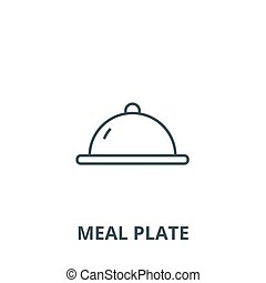 Meal plate vector line icon, linear concept, outline sign, symbol