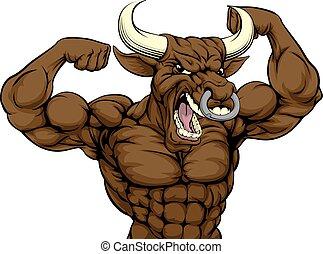 Mean Bull Sports Mascot