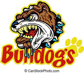 mean bulldog mascot
