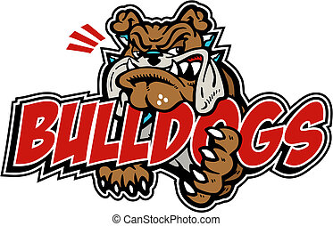 mean bulldog with wording