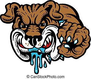 mean drooling bulldog