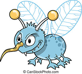 Mean Nasty Insect Bug Vector Illustration