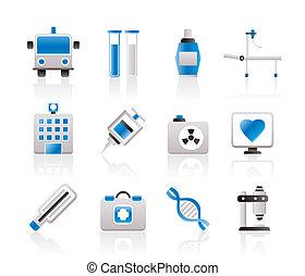 Medicine and healthcare icons - vector icon set