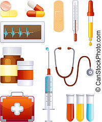 Vector illustration - medical equipment icon set