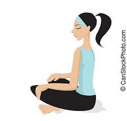 Meditation - Vector