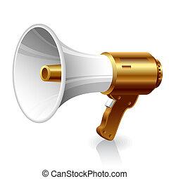 Vector illustration of a megaphone.