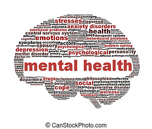 Mental health symbol isolated on white. Psychological symbol design