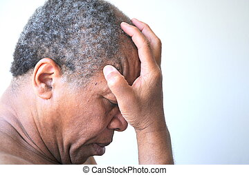 African american man feeling sad and rejected.