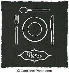 menu on old black board