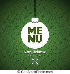 menu special christmas dishes design