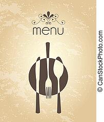 menu vintage