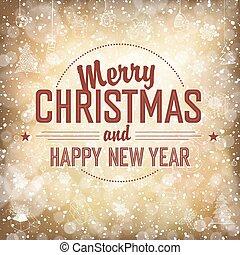 Merry Christmas Card, vector.