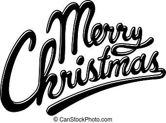 Hand write merry christmas headline letterhead