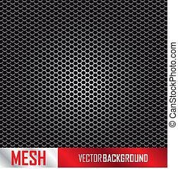 metal mesh background, vector illustration