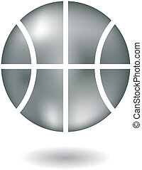 Metallic basketball
