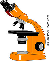 Microscope, vector illustration.