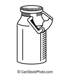 milk canteen drawn style icon