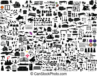 Miscellaneous objects collection - vector