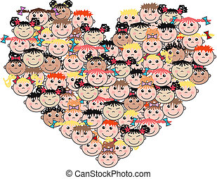 mixed etnic children love