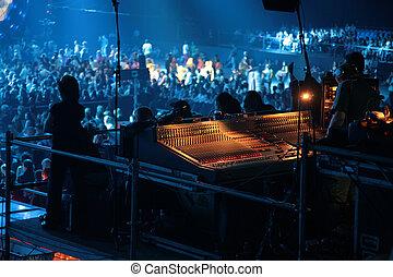 mixer on concert